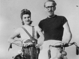 Andrzej Bobkowski con la moglie Barbara